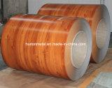 La configuration en bois enduite d'une première couche de peinture a galvanisé la bobine en acier de /PPGI