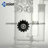 Pipe de fumage de verrerie avec la conduite d'eau de percolateur de dôme (AY012)