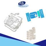 Auto ortodontico dello zaffiro che lega la parentesi libera della parentesi