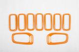 Крышки светильника Grill&Fog фронта типа ABS автоматического вспомогательного оборудования материальные померанцовые для предательской модели (7PCS/SET)