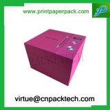 Rectángulo de regalo rígido impreso aduana útil del papel de la cartulina del sombrero