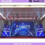 Etapa de alquiler P3.91 que hace publicidad de la pantalla de visualización de LED para el funcionamiento video