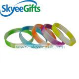 Braccialetto personalizzato della gomma di silicone con segmentato