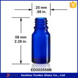 Frasco de vidro azul do conta-gotas da alta qualidade 10ml com o parafuso de alumínio de 18mm no tampão