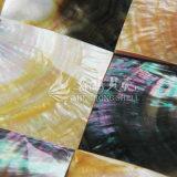Shell amarillo de la fregona del labio y azulejo de mosaico cuadrado negro del shell 60*60m m de la fregona del labio