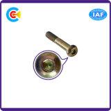 DIN/ANSI/BS/JIS Carbon-Steel/Stainless-Steel Pan/4.8/8.8/10.9 o Parafuso de Soquete Sextavado Interno galvanizado para construir
