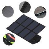 Carregador de painel solar portátil dobrável 40W18V 5V Dual Ports