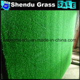 Grama artificial da cor verde 10mm para o balcão