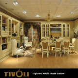 白い絵画居間の家具の光沢のラッカー食器棚の全家の習慣Tivo-051VW