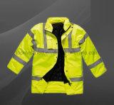 Высокие люди дождя Roadyway движения видимости делают отражательную куртку водостотьким безопасности