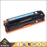 Cartucho de tóner de la copiadora del color de la venta directa de la fábrica para el precio competitivo / la muestra libre de HP CB540A / CB541A / CB542A / CB543A (125A)