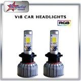 Farol do diodo emissor de luz das peças de automóvel 36W 3600lm H7, baixo farol elevado do diodo emissor de luz do feixe H4 para carros de Toyota