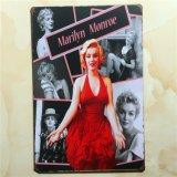 Sinal Vintage Marilyn Monroe a folha de flandres