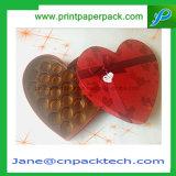 Boîte-cadeau de papier de empaquetage de Coeur-Forme de confiserie faite sur commande de chocolat