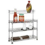 Новый шкаф Shelving провода кухни металла ярусов типа DIY 2