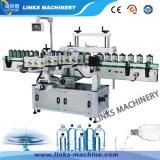 De automatische Machine van de Etikettering van de Koker van de Hoofden van de Fles van het Glas Dubbele