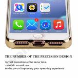 Transparenter Funkeln-Quicksand-und Stern-flüssiger Kasten des Plastik3d für Apple iPhone 4 5 6