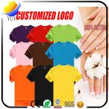 人および女性のためのカスタマイズされたロゴ純粋なカラーTシャツはある場合もある