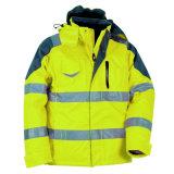 Alto chaqueta hecha punto de la seguridad de la visibilidad desgaste