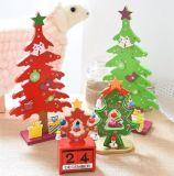 Arbre de Noël Décoration en bois avec calendrier