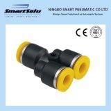Variedade de alta qualidade, plástico, tipo Y, montagem pneumática para tubo