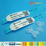 Wristband imprimible respetuoso del medio ambiente de papel sintetizado de RFID para el acontecimiento