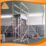 Solo andamio de aluminio de la escala de la subida de la anchura usar de interior o al aire libre
