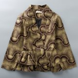 Custom Designs fabricant de la cire d'Afrique Femmes vestes d'impression