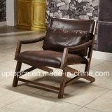 Presidenza di legno scura della mobilia del ristorante del Brown di svago con il bracciolo (SP-EC849)