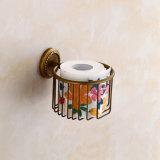 Latón flg baño antigua papel higiénico titular de montaje Baño