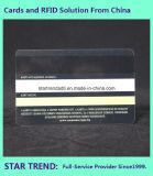Cartões em fita de assinatura e listra de assinatura transparente