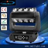 Hot Wheels 10W LED poderoso 8 Quad Beam LED Moving Head Stage Party Light