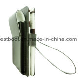 PU-lederne Mappen-weißer Telefon-Kasten