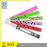 Bracelets stupéfiants de papier de bande de Tyvek pour l'événement et l'usager