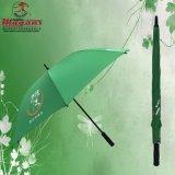 Anunciando o guarda-chuva reto da fibra de vidro do golfe