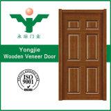 中国の低価格の自然なベニヤの木のドア