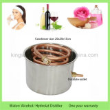 alcohol ilegal del destilador del agua de Rose de la destilación del uso del hogar del acero inoxidable 30L/8gal aún con el barrilete del latido