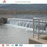 水保護のプロジェクトのための膨脹させた及び空気を抜かれた空気のゴム製ダムは絶食する