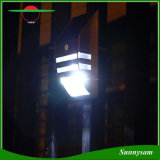 Produits d'éclairage extérieur sans fil étanche en acier inoxydable brillant mur de lumière du capteur de mouvement de la lampe témoin de sécurité solaire