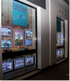 Rectángulos ligeros iluminados de acrílico de la visualización de la ventana del LED
