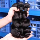 二重編むブラジルのバージンの毛(QB-BVRH-LW)