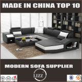 Neuestes europäisches Wohnzimmer-Möbel-Ecken-Leder-Sofa Divani