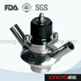 Válvula embridada aséptica de la muestra del grado sanitario del acero inoxidable (JN-SPV1008)
