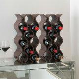 Cremagliera ondulata della mensola di visualizzazione del vino rosso del supporto di legno superiore di vendita