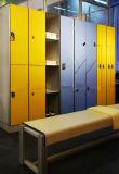 木製の穀物の単一のドアの更衣室のデジタルロックのロッカー