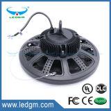 45 60 90 120 gradi IP65 impermeabilizzano lampada della baia del UFO 100W LED dell'UL l'alta