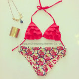 Fabrik-kundenspezifische Frauen-Bikini-Großhandelsmädchen-reizvolle bescheidene Badebekleidung