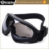 Vidros táticos da motocicleta dos óculos de proteção da proteção da poeira do vento do X.400 de Airsoft da caça