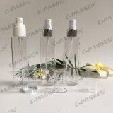 Botella de perfume transparente del animal doméstico con la bomba del aerosol para el empaquetado de los cosméticos (PPC-PB-080)