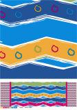 安いNon-Wovenファブリック裏付けのプラスチックPVC多彩な印刷されたテーブルクロス(TJ0356)